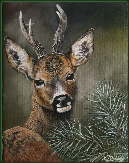 White Doe Painting