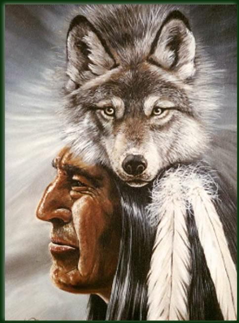 Wolf man | Nico Bulder Wildlife Painter